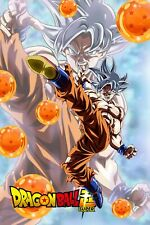 Dragon Ball Poster Goku Ultra Kick w/Dragon Balls Logo 12inx18in Free Shipping