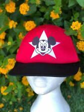 Rare VTG 80s/90s Disney Mickey Black/Red Snapback Trucker Baseball Hat Cap
