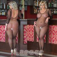 Plus Size - Netz Body Catsuits Body Stocking, XL-XXXL