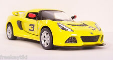 YELLOW 2012 '12 LOTUS EXIGE S # 3  Vehicle Diecast 1/32 Pull Back Sportscar  NEW