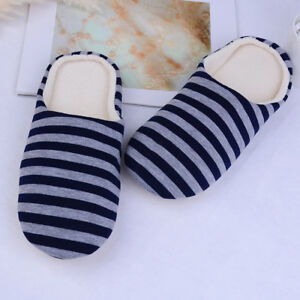 1 Pair women men home indoor anti-slip slippers winter warm cotton,slipper sY*jg