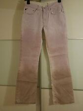 DKNY Sommer-Jeans Farbverlauf Schlagjeans flieder weiß Batik W28 L32 S