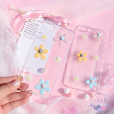Fresh 3D Daisy Crystal Clear Glitter Soft Case Skin For iPhone X 6S 7 8 Plus