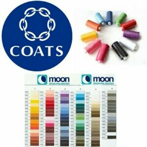 Moon Thread Coats Polyester 1000 Yard Sewing Machine, 189 Colours