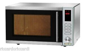 Forno a microonde 900 Watt in acciaio inox con grill professionale forni Lt. 25