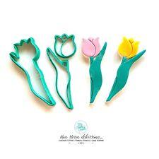 Tulipano Fiore Bouquet Festa Della Mamma Cookie Cutter Formine Biscotti