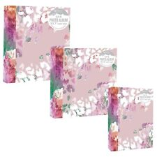 "Home Collection Pink Floral Art Slip In Photo Album for Photos 4x6"" or 5x7"""