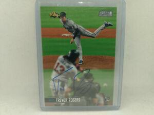 2021 Topps Stadium Club Baseball #SCBA-TR Trevor Rogers MLB RC AUTOGRAPH Card