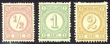 NETHERLANDS #34-36 Mint NH - 1875 Numerals