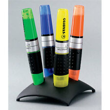 Stabilo Luminator Highlighter Pens ASSORTED Desk Set with Stand