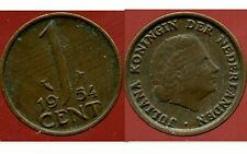 PAYS BAS  1 cent 1954