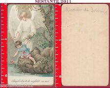 1547 SANTINO HOLY CARD ANGELO CUSTODE VEGLIATE SU NOI ANTICO AR 728