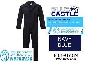 NAVY COVERALL.HIGH QUALITY.BLUE CASTLE. FORT 318,OVERALL,BOILER SUIT, WORK,S-XXL