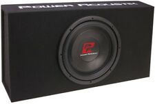"POWER ACOUSTIK THIN-12BXA CAR 12"" SINGLE SUBWOOFER POWERED/AMPLIFIED ENCLOSURE"