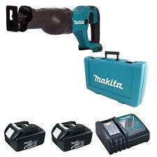 Makita DJR186 Sierra de vaivén 2 baterías BL1830 DC18RC Cargador Y Estuche