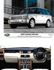 GROUP OF 8 'NEW' RANGE ROVER PRESS PHOTO 'BROCHURE RELATED' FOR 2001 2002