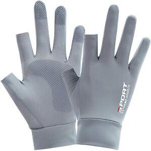 Sun Protection Gloves Floral Non-Slip Fingerless Gloves for Men Women Lightweigh