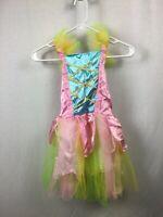 Jerry Beck Girls' Pink Rainbow Princess Fairy Dress Costume Size XS/S