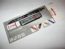 ROTRING TIKKY finemente penna mine 0,5 mm Nero + 12 HB Mine + GOMMA ORIGINALE