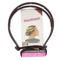 Top Frisurenhilfe Styling Haarreif Haarband Headband Haarschmuck Elastisch Braun