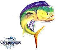 VINYL FISHING MAGNET DOLPHIN FISH MAGNET BOAT KAYAK WAHOO M4774