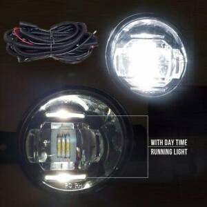Fit 2010-2014 Toyota Prius 6000k Built-in LED Fog Lights Kit With DRL & Wiring