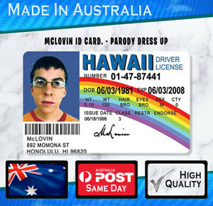 McLovin ID Card Plastic - Parody Prop Gift Novelty SUPERBAD