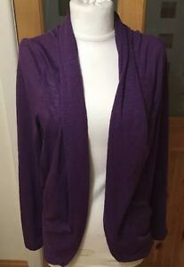 Ladies Size 10 Purple Shrug Open Cardigan NWT