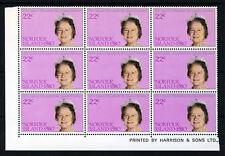 NORFOLK ISLAND QE II 1980 Queen Mother Birthday Set Blocks SG 252 & SG 253 MNH
