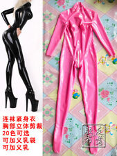 734 MEN LATEX CASUIT CROSS-DRESS WITH C CUP SILICONE BREAST BACK ZIP