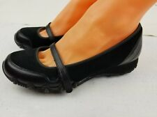 Skeckers Women''s Mary Janes shoes SZ  US 7.5 Black Leather/ Canvas