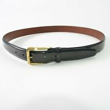 COACH Black Leather And Brass Belt Mens Size 40 Inch 100 CM