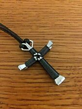 Horseshoe Nail Disciple Cross Necklace Color Wire