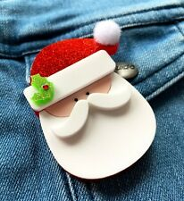 Santa Acrylic Brooch Christmas Accessories