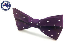 Men's Bowtie Purple & White Polka Dots Wedding Tux Bow Tie Groomsmen Bow Tie