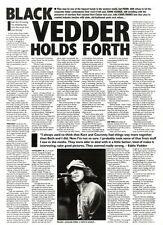 14/1/95PGN08 ARTICLE & PICTURE : EDDIE VEDDER & PEARL JAM