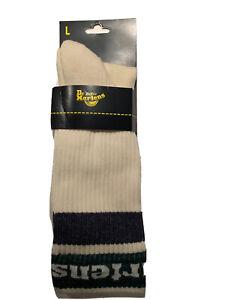 Dr Martens Womens Size Large 5-7 US  Athletic Logo Socks Egret Green Navy