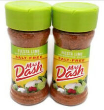 Mrs. Dash Fiesta Lime Seasoning Blend 2.4 oz 2 Bottles Salt Free No Sodium Grill