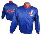 Montreal Expos Satin STARTER Jacket Vintage Snap Up Forgotten Franchise Men's A1