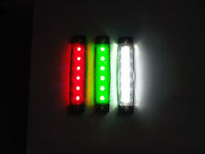 6 LED Navigation Deck Light Marine Yacht Canal Narrow Boat in Red Green or White