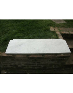 White marble fire hearth