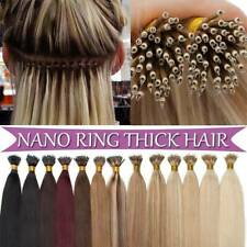 Nano Ring Micro Beads Link Hair Extensions Nano Tip Russian Remy Human Hair 1g/s