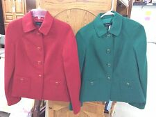 EUC! SET OF TWO WOMEN'S COAT'S FROM TALBOT'S SIZE 2 GREEN/RED