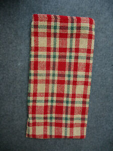 PARK DESIGNS Seasons Greetings Dish Towel Christmas Plaid Kitchen Towel