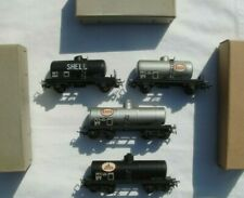 More details for smcf ho scale tank wagons x 4 - shell, esso, avia, s.n.c.f 1960's rare - vgc