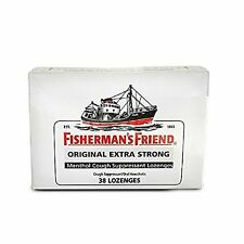 3 Pack Fisherman's Friend Original Extra Strong Menthol 38 Lozenges Each
