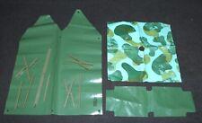 GI Joe Clone 1960s Marx Stony Smith Accessories Lot Tents Cots Poncho B