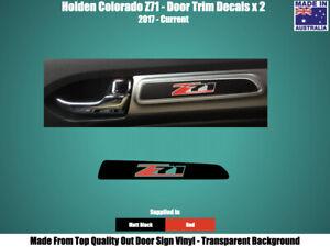 HOLDEN COLORADO Z71 - DOOR TRIM DECALS STICKERS - BLACK & RED x 2