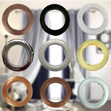 10 X 42mm Plastic Eyelets Rings Clips Grommets Home Party Function Curtain Decor
