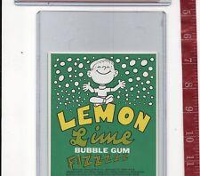 Vintage vending machine display Lemon Lime fizzz bubble gum card Free Shipping